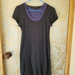 Banana Republic Short Sleeve Dress Blue and Gray